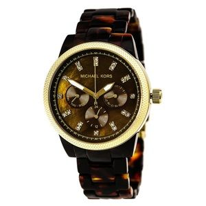 Michael Kors Tortoise Shell Watch-New Battery!